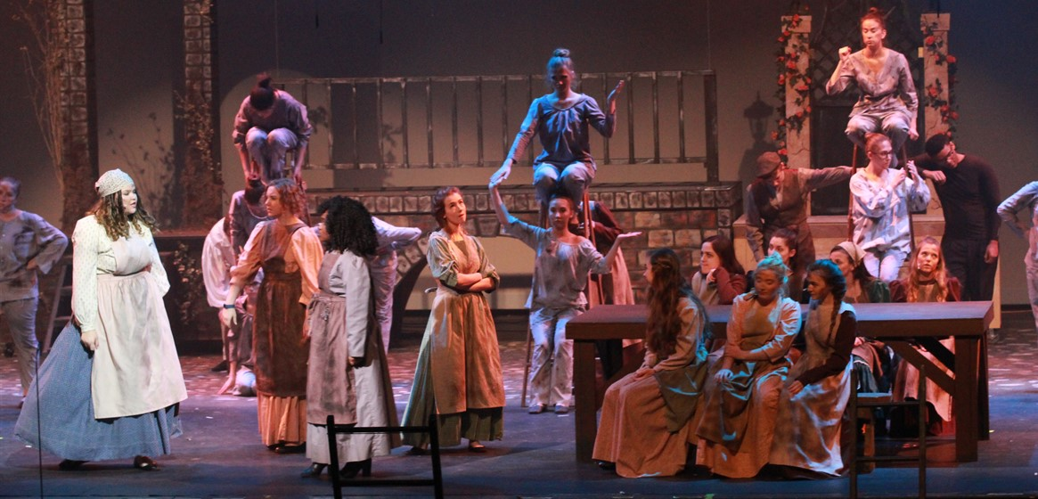GlenOak High School students perform Les Misérables February 23 and 24 on the Abbey Foltz stage.