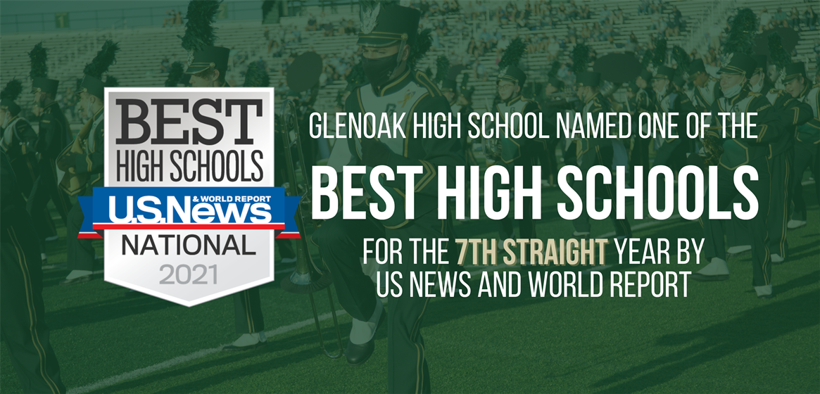"Congratulations to all of our GlenOak High School teachers, students, staff, and supporting community for earning a ""BEST HIGH SCHOOL"" national designation for the 7th straight year by U.S. News & World Report!"