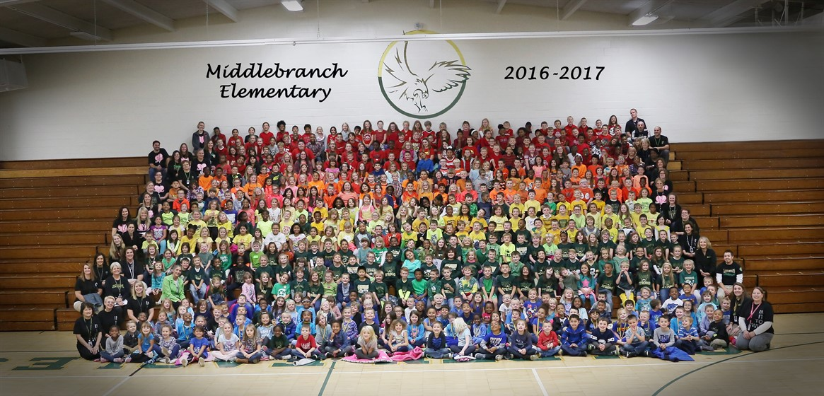 The Middlebranch Rainbow! Students raised over $4,500 toward new playground equipment at their annual walk-a-thon!
